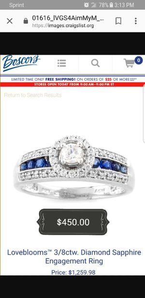 3/8ctw diamond sapphire engagement ring for Sale in Philadelphia, PA