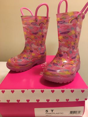 Rain boots for girls. Olive & Edie, size 5. for Sale in Virginia Beach, VA