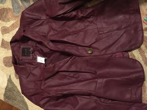 The Limited - Red leather jacket (new) for Sale in Fairfax, VA