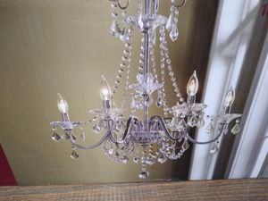 Home decorators chandelier pendant light fixture, no jewels included, frame only as shown for Sale in MERRIONETT PK, IL