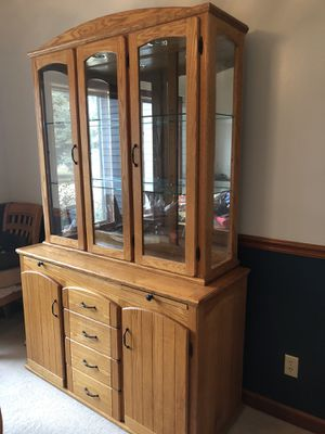 Custom hand made Oak China/Liquor cabinet for Sale in Paw Paw, MI