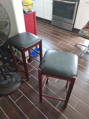 Two wooden bar stools for both 30 for Sale in Hanford, CA