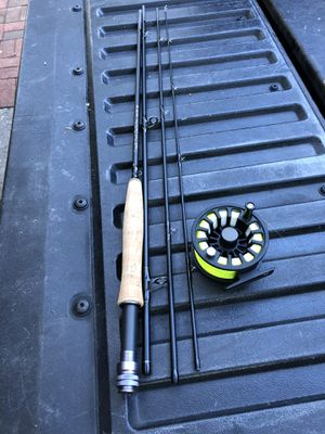 TFO 6 weight 9' 4 piece fly rod with white river reel for Sale in Norfolk, VA