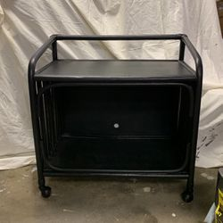 Gorgeous Wicker Rattan Bar Cart On Wheels for Sale in Moon Township,  PA
