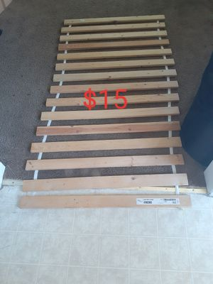 Wooden twin bed support slat/ IKEA sultan lade for Sale in Los Angeles, CA
