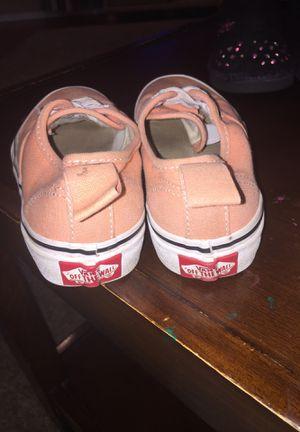 Peach/ orange size 13 kids vans for Sale in TULARE, CA