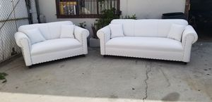 NEW WHITE LEATHER SECTIONAL COUCHES for Sale in City of Industry, CA