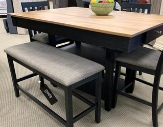 ⚡New ☑️Nina Black Counter Height Set 💐Fast Delivery for Sale in Silver Spring,  MD