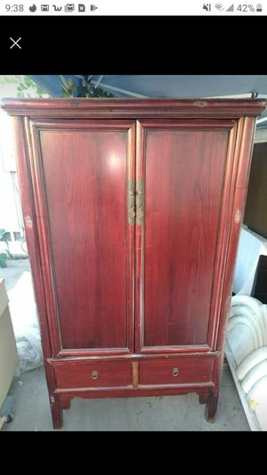 Antique tall cabinet for Sale in Burbank, CA