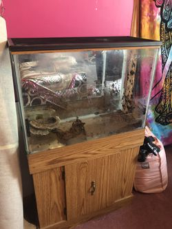 Fish tank and cabinet for Sale in White Hall,  WV