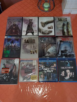$30 (GREAT DEAL) Horror lot of 12 SAW BLADE GET OUT for Sale in The Bronx, NY