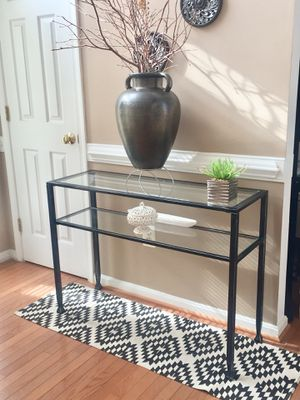 Console Table Black Metal & Glass for Sale in Columbia, MD