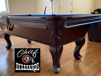 """""""Tail Fin"""" 8FT Pool Table- BRAND NEW IN BOX- Free Delivery/Setup-Any Color Felt-Accessory Kit- CHIEF BILLIARDS for Sale in Anaheim,  CA"""