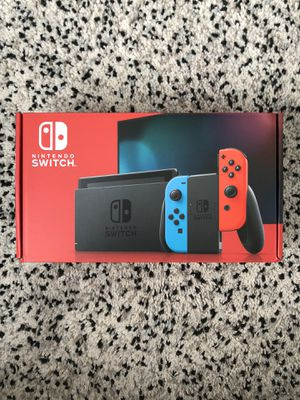 Nintendo Switch V2 with Neon Blue and Neon Red Joy-Con 🔥 for Sale in Des Moines, WA