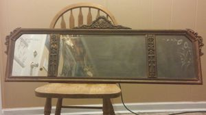 Antique mirror with beautiful etched class over a hundred years old for Sale in Dublin, GA