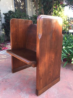 Unique Vintage Single Seat Church Pew for Sale in Glendale, CA