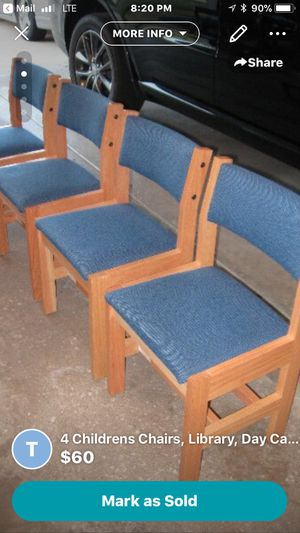 4 Children Chairs, Daycare,School,Library,Small Kids Chair for Sale in Roselle, IL