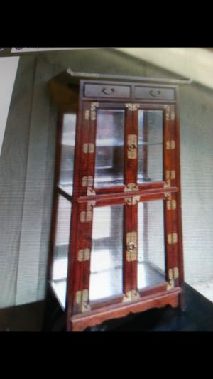 Antique cherry Chinese cabinet for Sale in Gladstone, OR