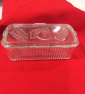 Federal glass storage container 1950s Retro, can be used in oven or fridge, matching butter dish sold separate for Sale in Miami, FL