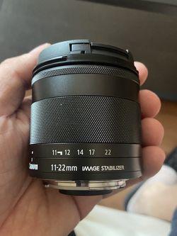 Canon Efm 11-22mm F/4-5.6 Is STM Wide Vlogging Lens for Sale in Los Angeles,  CA
