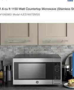 GE 1.6 CU FT MICROWAVE NEW!!! for Sale in Reedley,  CA