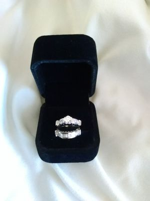 14k white gold diamond engagement and wedding ring,size 7, appraised at over $7000.00 for Sale in Peoria, AZ