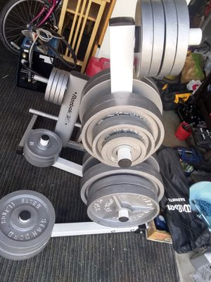 JUST WHITE OLYMPIC TREE WEIGHTS SOLD ALREADY for Sale in Stockton, CA