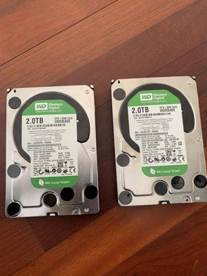 """Two Western Digital Green 2TB 32MB 3.5"""" Internal Hard Drive Bare Drive for Sale in Centreville, VA"""