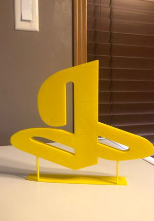 PlayStation logo on stand 3d printed for Sale in Mandan, ND