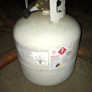 Propane tank, RV Motorhome size. Certified, Blue Rhino Exchange bottle. Lbs . Gallons for Sale in Sacramento, CA