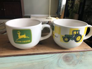 2 Vintage John Deere extra large coffee mugs for Sale in Lawrenceville, GA