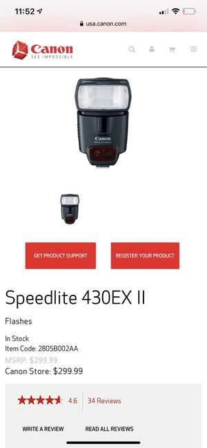 Canon Speedlite 430 EX II External Flash [New in box] for Sale in Westminster, CA