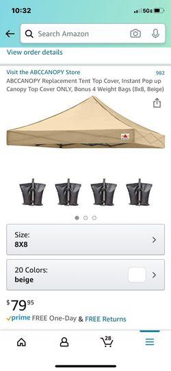 Canopy tent cover for Sale in Miami,  FL