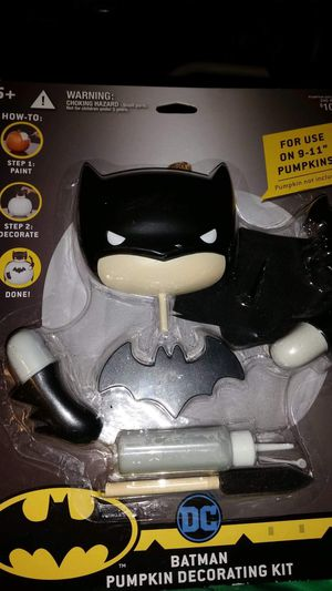 DC Batman pumpkin decorating kit. NEW! Just in time for Halloween. PRICE REDUCED for Sale in Largo, FL