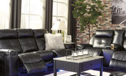 🌜SPECIAL] Kempten Black LED Reclining Living Room Set for Sale in College Park,  MD