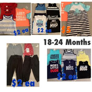 Baby boy clothes prices on pic for Sale in Las Vegas, NV