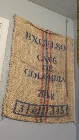 Colombian coffee bean bag handmade for Sale in Saint FRANCISVLE, LA