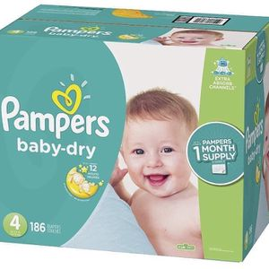 Pampers Baby Dry size 4 diapers- pañales for Sale in South Gate, CA