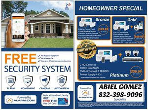 HOME SECURITY & SURVEILLANCE CAMERAS 1080P HD NIGHT VISION for Sale in Houston, TX