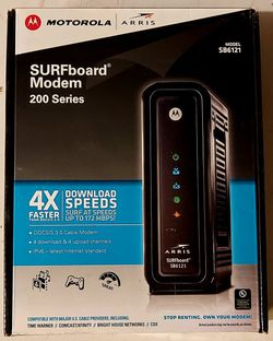 Motorola Arris Model Sb6121 Surfboard Modem 200 Series for Sale in Ramona,  CA