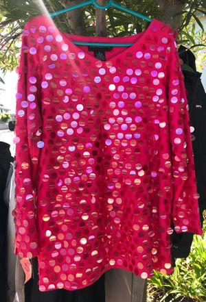 Magenta pink disco tunic - ladies medium for Sale in San Mateo, CA