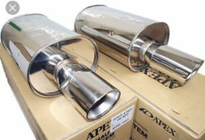 b6d90908611 2x universal muffler apex Ws2 style for Sale in Belleville