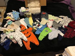 Lot of 50+ Onesies and Sleepers for Sale in Puyallup, WA