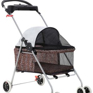 BestPet Pet Stroller 4 Wheels Posh Folding Waterproof Portable Travel Cat Dog Stroller with Cup Holder for Sale in Placentia, CA