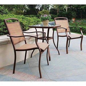 New 3-Piece Outdoor Bistro Set Tan Patio Deck Backyard Pool for Sale in Des Moines, WA
