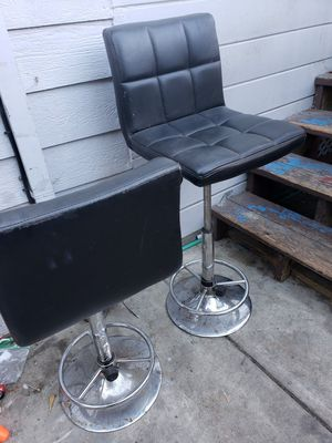 Bar stool leather chairs for Sale in Oakland, CA