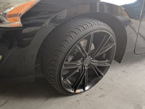 4 20 inch black niche rims+ wheels for trade/ sale for Sale in Las Vegas, NV