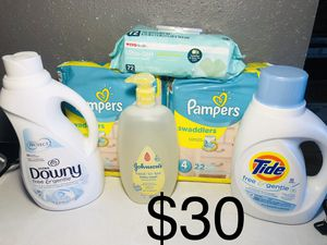 Pampers size 4 bundle for Sale in Pasadena, TX