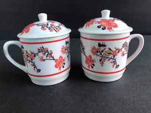 Williams Sonoma Set of 2 teacups with lids for Sale in Midland, MI