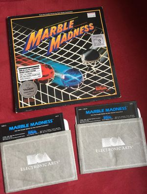 1987 Marble Madness Arcade Version By Atari for IBM/Tandy Game 5.25 Media for Sale in South Euclid, OH